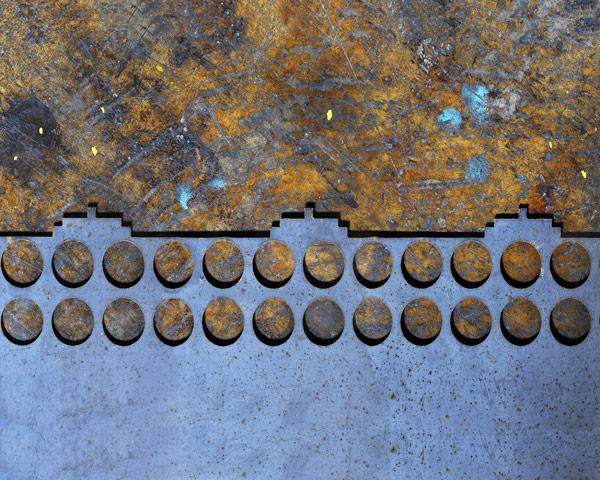 Steel Cutout on Floor